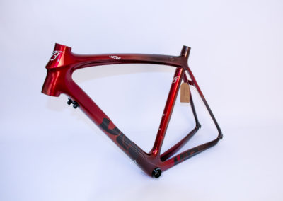 cadre vélo de course rouge dégradé profusion composite